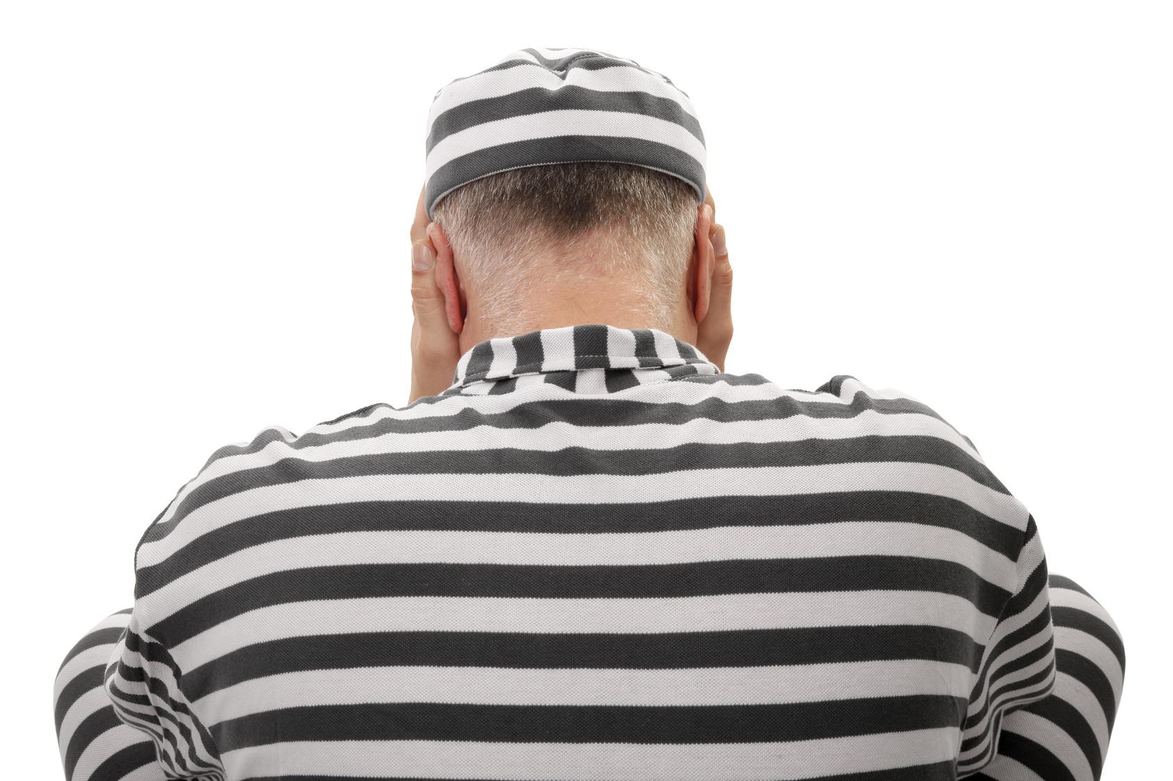 Convict prisoner jailbird is desperate